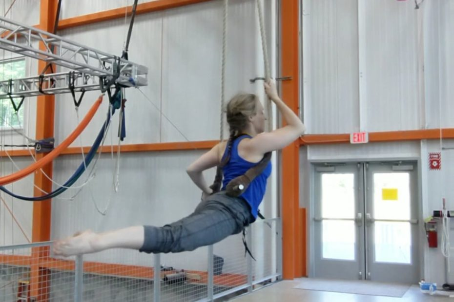 Megan in dragonfly beat sequence on trapeze